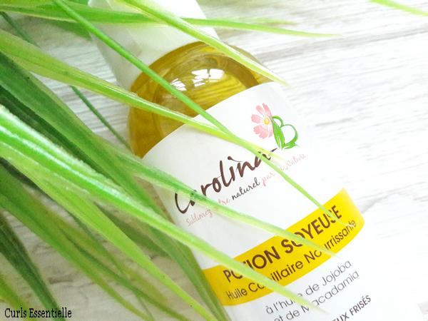 huile vegetale carolina b fait des miracles sur les cheveux secs